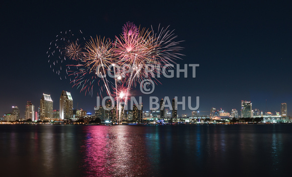 Fireworks Over San Diego Bay 1