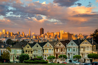 Painted Ladies/San Francisco Golden Hour