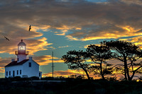 Pt. Loma Lighthouse at Sunset 2