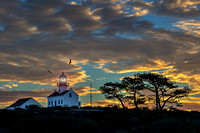 Pt. Loma Lighthouse at Sunset