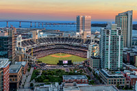 Petco Park at Sunset Aerial 1